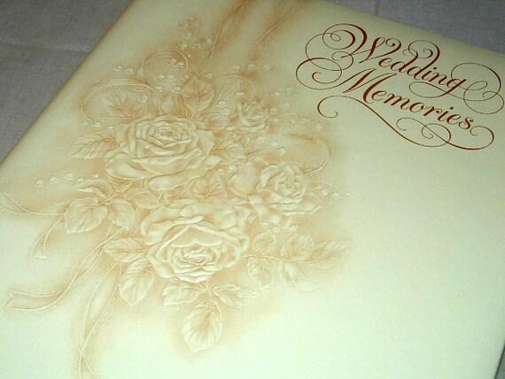 Hallmark Invitations Wedding: Vintage Hallmark Wedding Keepsake Album Memories Book Yellow