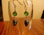 Pierced Earrings Zombie Apocalypse Grateful Dead Day of the Dead Skulls