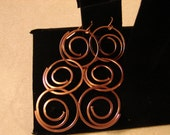 Pierced Earrings Copper Metal Coil Dangles