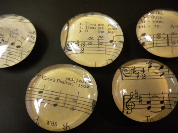 Vintage Sheet Music Magnets. Sold in Sets of Six.