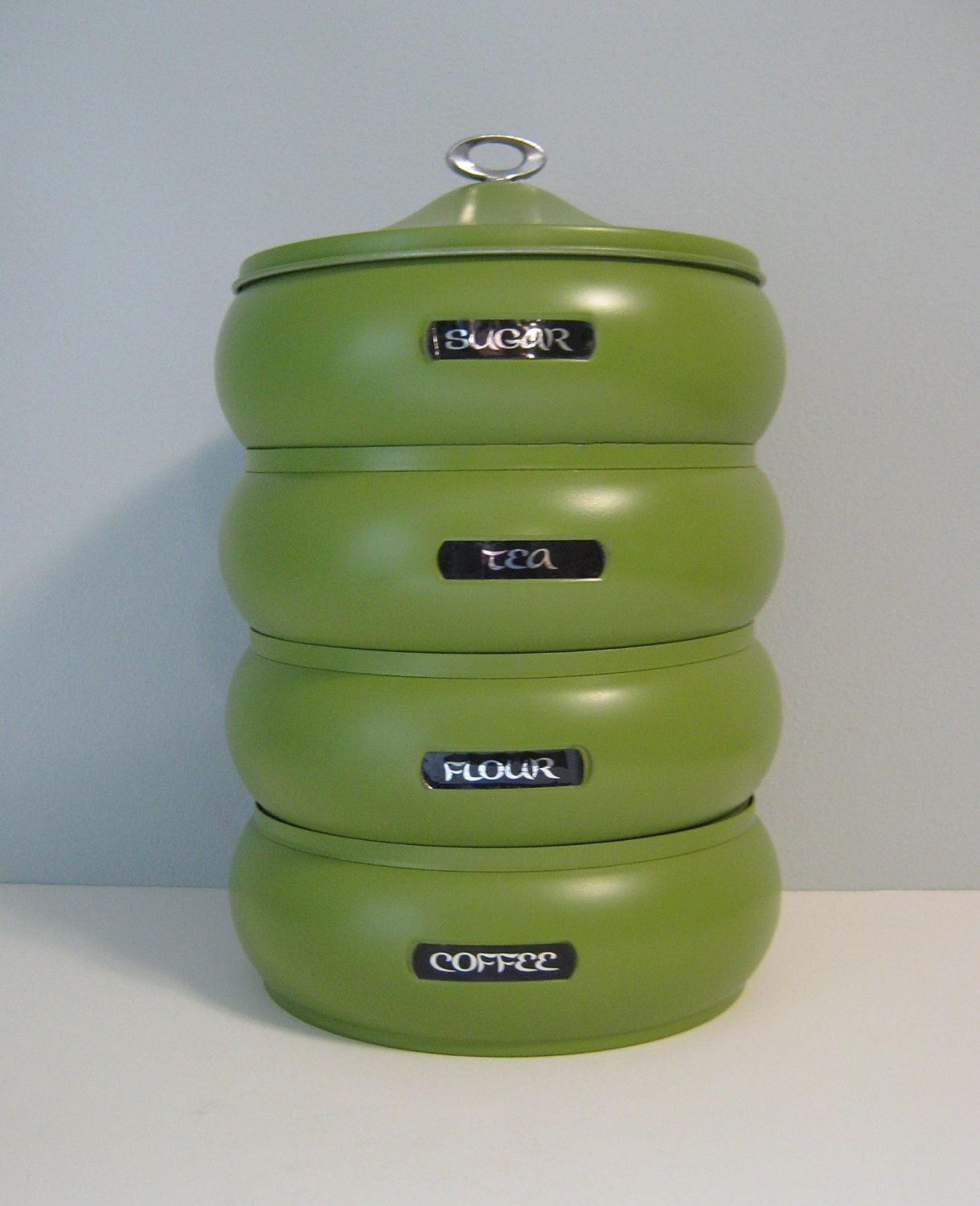 canister kitchen items similar to kitchen canister kitchen stackable canister stacked set metal kitchen 2450