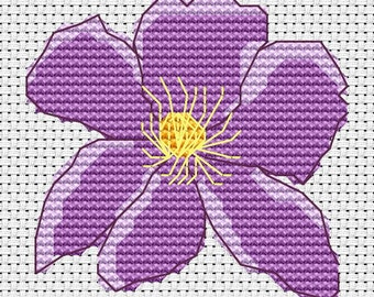 Cross stitch kit - Clematis