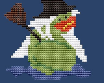 Halloween - Witch Rubber Duck - Counted Cross Stitch Kit