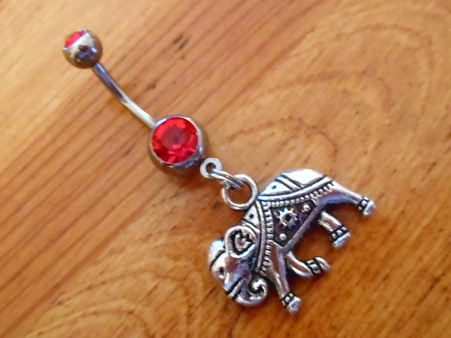 Belly button ring Silver Elephant Belly Button Ring