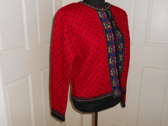 Vintage Red Tally Ho Woolen Sweater