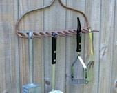 Garden Rake Hooks, Vintage Farmhouse & Garden Decor, Vintage Wall Storage Hooks