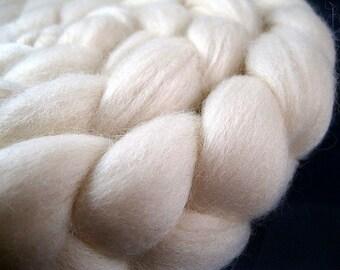 Undyed Polwarth Wool Roving -- 4 oz.