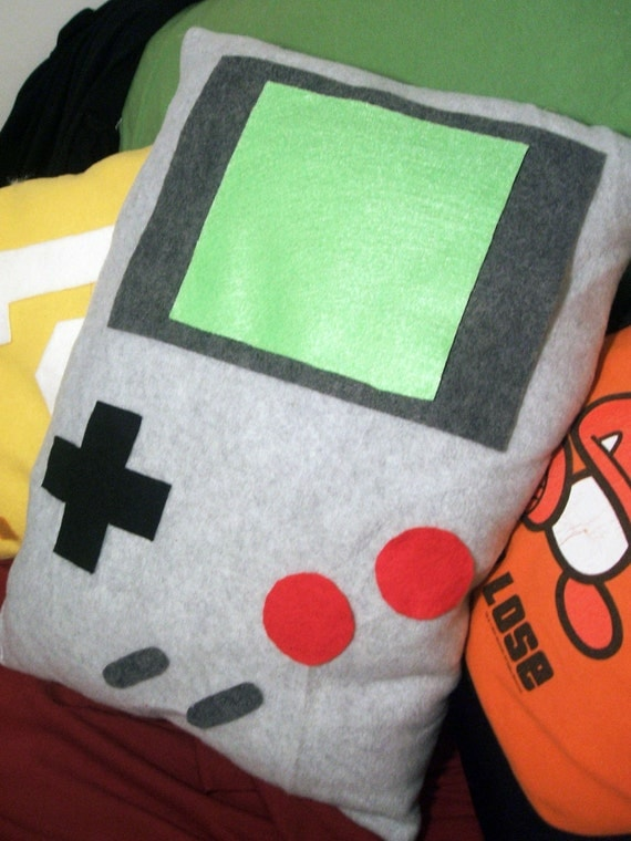 Nintendo Game Boy Pillow In Gray