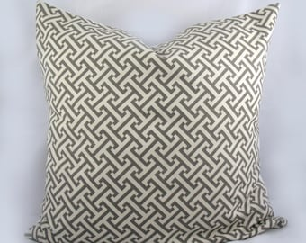Waverly -Cross Section Charcoal, Grey - Decorative Pillow Cushion Covers - Accent Pillow - Throw Pillow