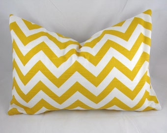 ZigZag Chevron Yellow - Decorative Pillow Cushion Cover - Accent Pillow - Throw Pillow