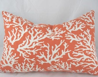 Coral - Orange - Coral - Decorative Pillow Cushion Covers - Accent Pillow - Throw Pillow - Indoor Outdoor