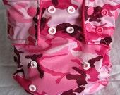 OS Pocket Cloth Diaper - Pink Camo