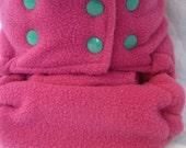 OS Fleece Diaper Cover - Watermelon