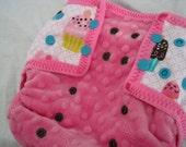 OS Cloth Diaper Cover - Cupcake