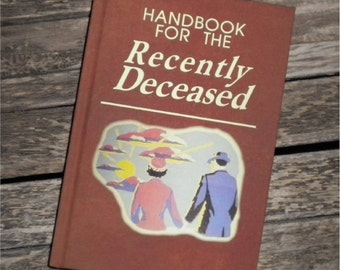 BLANK BOOK Journal - Handbook for the Recently Deceased - BEETLEJUICE  sketch book, Movie Prop Tim Burton Alec Baldwin Michael Keaton, Flyer