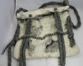 Felted bag: Winter world,wool, wet felted handbag