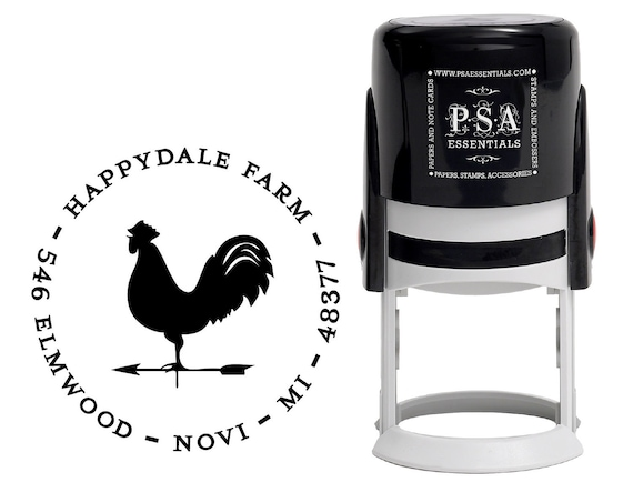 Personalized Rooster Stamp
