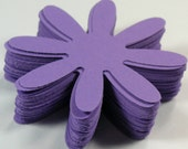 Purple Daisy flowers 25, 50,100, Cardstock, Die Cut, 2 inch, Embellishment, Scrapbook, Tags, Weddings