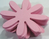 Lt. Pink Daisy flowers 25,50,100, Cardstock, Die Cut, 2 inch, Embellishment, Scrapbook, Tags, Weddings