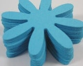 Teal Blue Daisy flowers, Cardstock, Die Cut, 2 inch, Embellishment, Scrapbook, Tags, Weddings