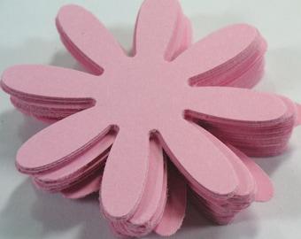 "Lt. Pink 2 "" Daisy flowers 25,50,100, Cardstock, Die Cut, 2 inch, Embellishment, Scrapbook, Tags, Weddings"