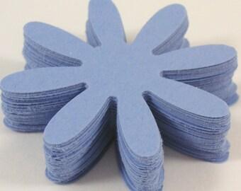 "Blue 2""  Die cut Daisy flowers, Scrapbook die cut, Paper flower embellishment"