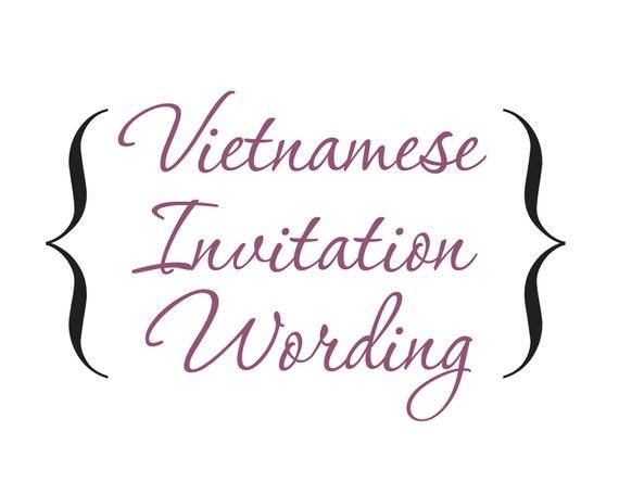 Bilingual Wedding Invitations: Word Document Bilingual Vietnamese By InvitationsByTiffany