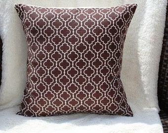 Chocolate Metro Living Pillow Cover 12x12
