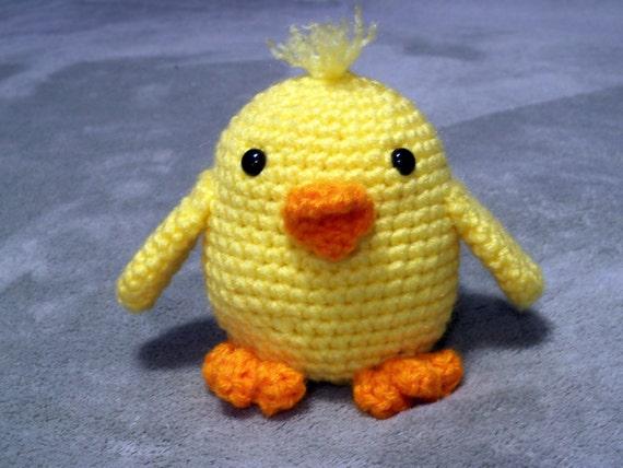 Amigurumi Baby Chicks : Baby Chick Crochet Amigurumi Stuffed Animal by HookAndStitches