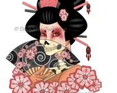 Tattoo Inspired Art Print - Mistress Morte
