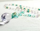 Bridal Necklace, Ametrine, Vermeil, Gold, Bridal Jewelry, Apatite, Bridal Show Piece, Statement Necklace, Stunning, Brides