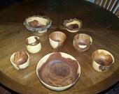 RESERVED FOR JODI --- End Grain Wood Bowls Food Safe Serving and Decorative
