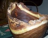 SALE: Bark on Rim Centerpiece Bowl Large and Beautiful