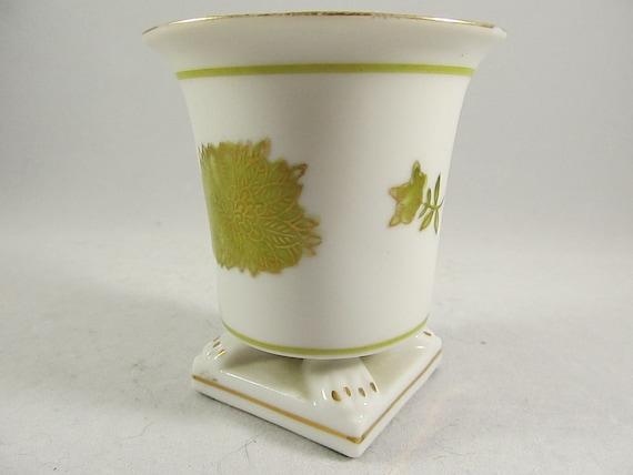 FINAL SALE Petite Vintage Four Footed Japanese Urn