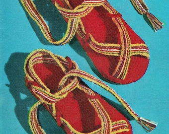 Crochet Beach Sandals 1950's Vintage Crocheting PDF PATTERN