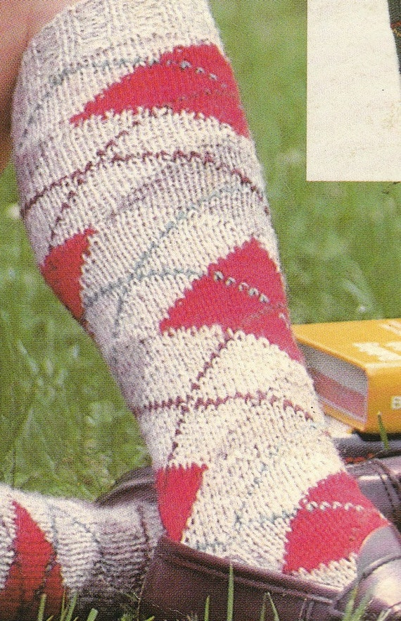 Knit Womens Argyle Socks Vintage Knitting PDF PATTERN from ...