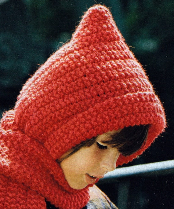 Knit Kids Hooded Scarf Vintage Knitting PDF PATTERN from ...