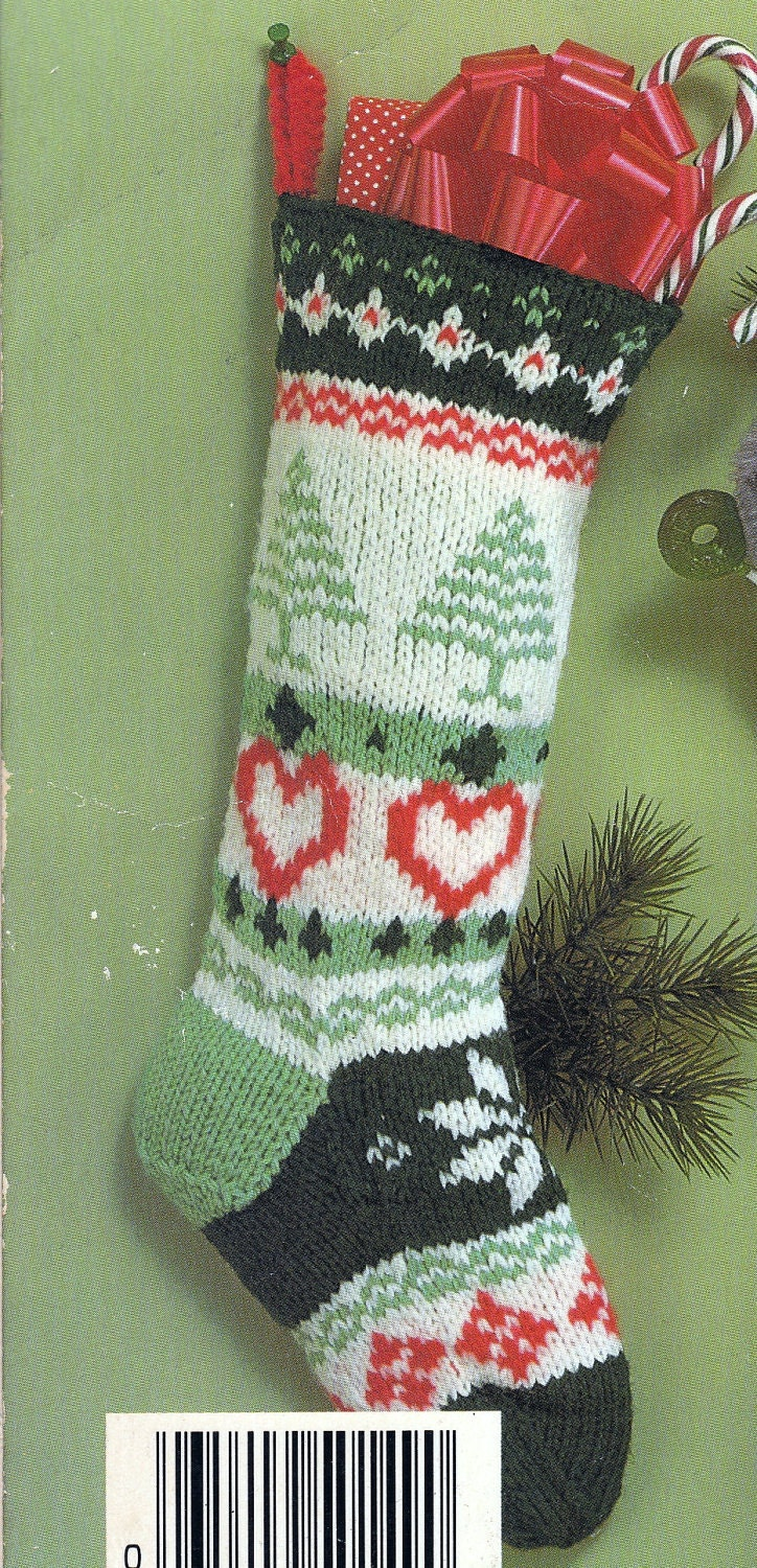 knitted christmas stockings knit fair isle vintage knitting pdf 29133