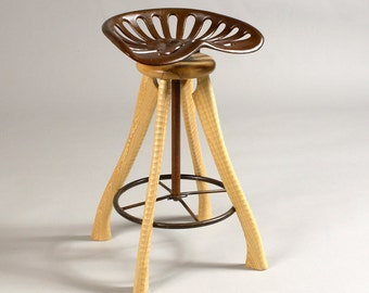 Superb Tractor Seat Stool Etsy Largest Home Design Picture Inspirations Pitcheantrous