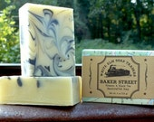 Baker Street Vegan Soap - Palm Oil Free Soap - Tobacco & Black Tea Scent - Handmade Soap with Shea Butter