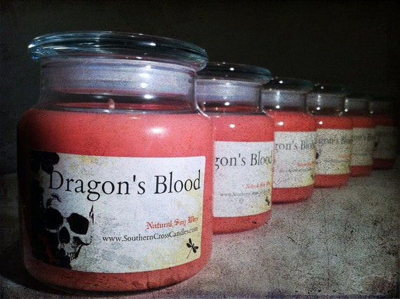 Dragon's Blood 16oz Soy Scented Apothecary Candle