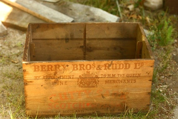 Vintage Alcohol Crate, Wooden Crate, Wedding Card Box, Old Crate