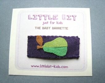 Pear Baby Hair Clip