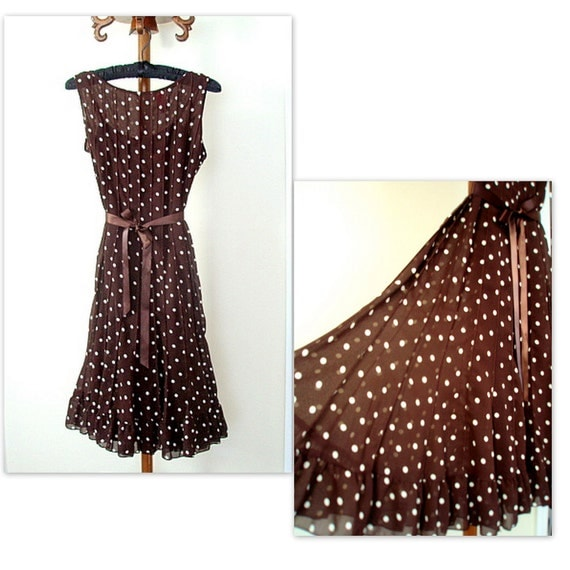 Pretty Polka Dot Dress Pretty Woman Brown Polka Dot