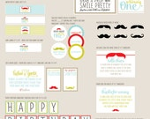 Little Man Partie Kit - Happy Birthday Handsome - PRINTABLE