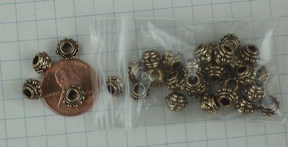 Large hole bead Antique Brass finish