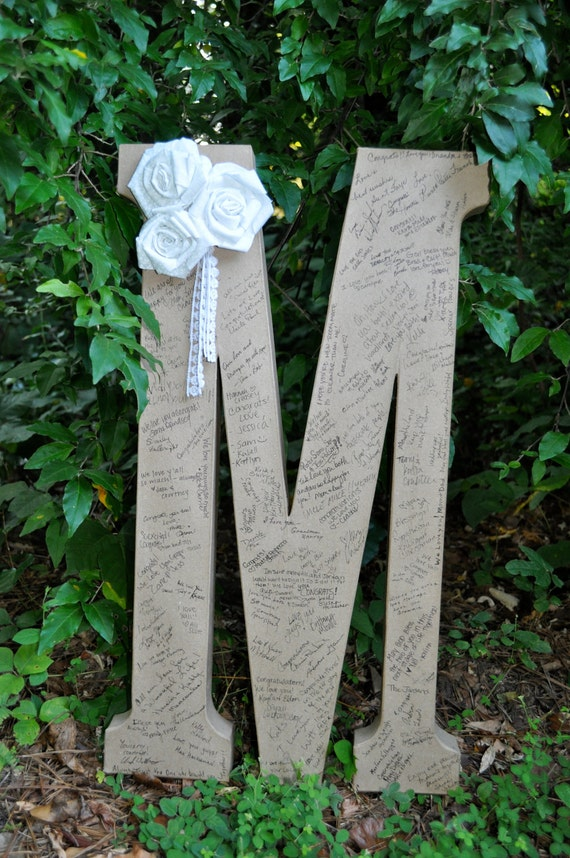 Large Letter Guest Book