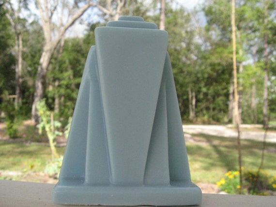 Art Deco Molded Cathedral Candle