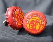 Fat Tire New Belgium brewing classic Bike logo beer cap cuff links cufflinks