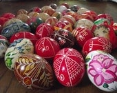 3 Hand Decorated Hungarian Easter Egg